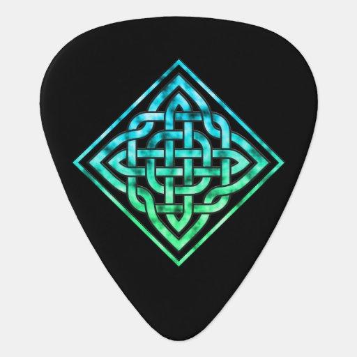 celtic knot guitar pick diamond blue green design zazzle. Black Bedroom Furniture Sets. Home Design Ideas
