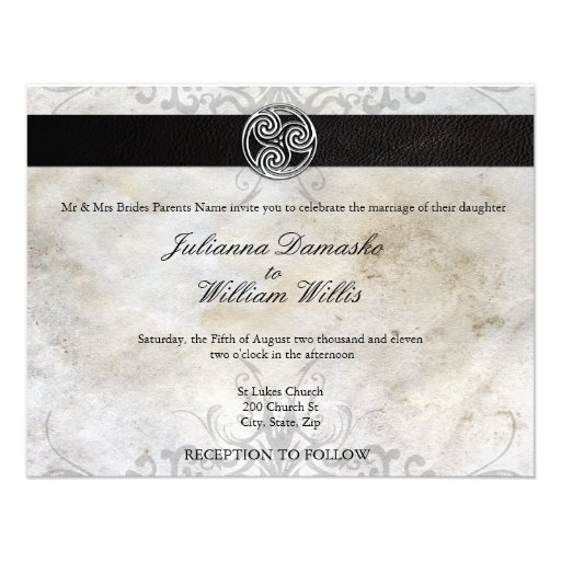 Tree Of Life Invitation Rsvp Celtic Life By: Personalized Gaelic Invitations