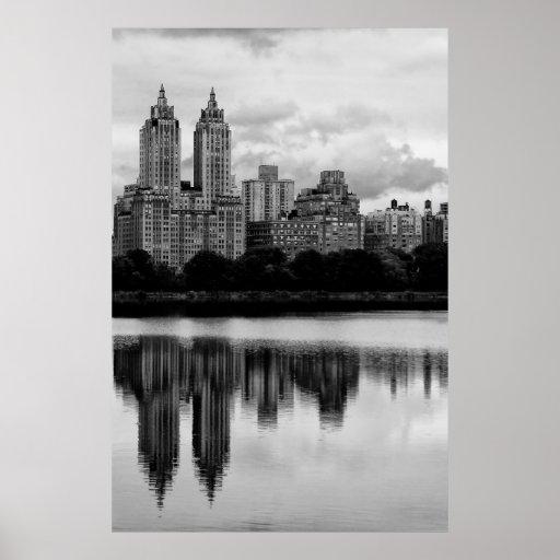 central park new york city skyline poster zazzle. Black Bedroom Furniture Sets. Home Design Ideas