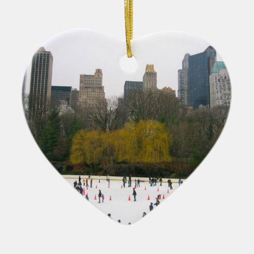 Christmas Ice Skating Rink Decoration: Central Park NYC Wollman Rink Christmas Ornaments