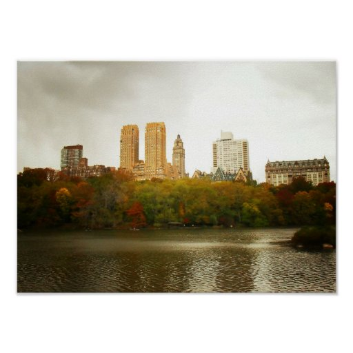 40 Central Park South Nyc: Central Park Skyline, New York City, Small Poster