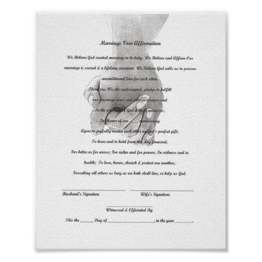 Certificate Marriage Vow Renewal Template Poster | Zazzle