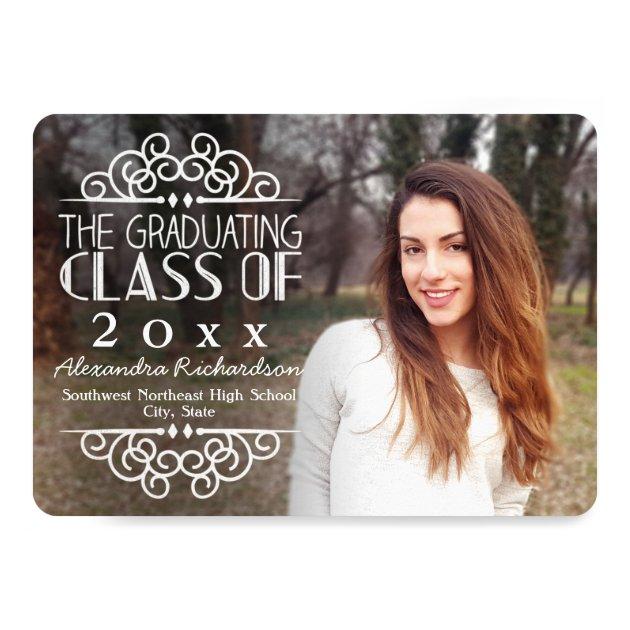 Personalized Chalkboard Graduation Invitations