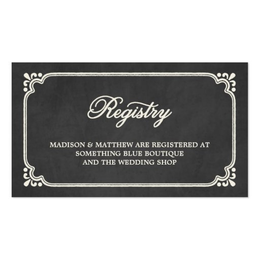 Best Places For A Wedding Registry: Wedding Registry Card Double-Sided