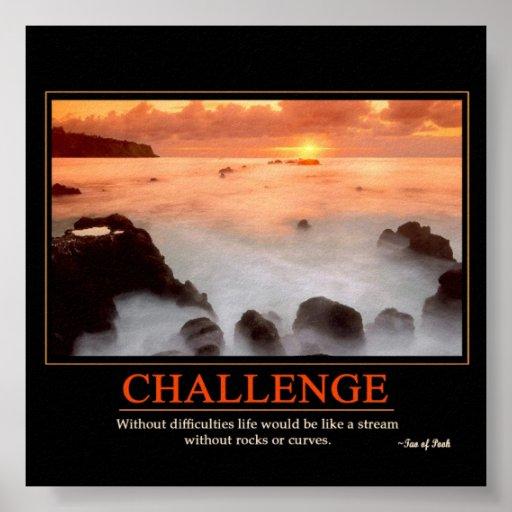 Challenge Poster | Zazzle