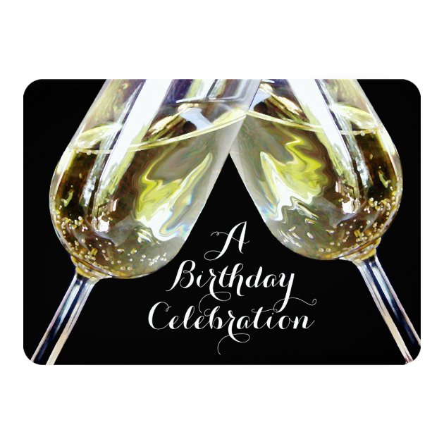 Image Gallery happy birthday champagne toast