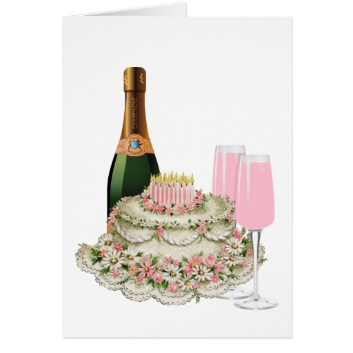 Champagne Toast Birthday Card | Zazzle