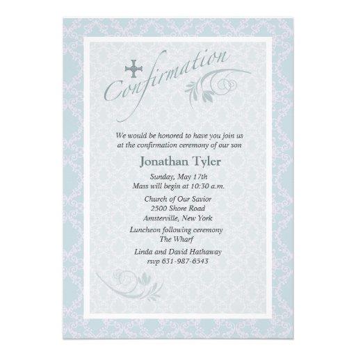 Personalized Confirmation Catholic Lutheran Sacrament Invitations