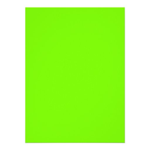 Chartreuse Neon Yellow Green Color Only Tools 5.5x7.5 ...