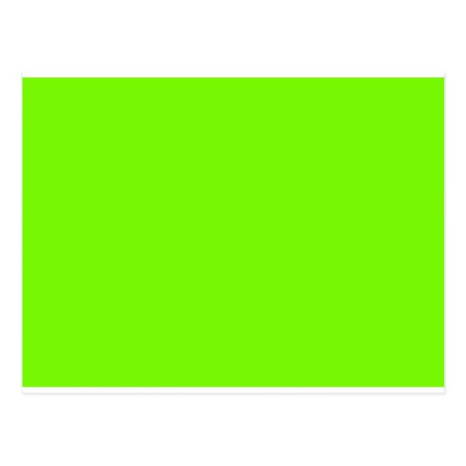Chartreuse Neon Yellow Green Color Only Tools Postcard ...