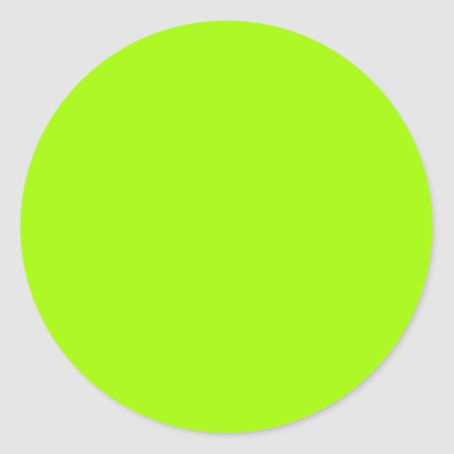 Chartreuse Neon Yellow Green Color Only Tools Sticker | Zazzle