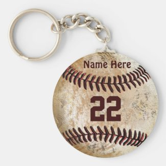 Cheap Baseball Keychains NAME, NUMBER for TEAM Keychains