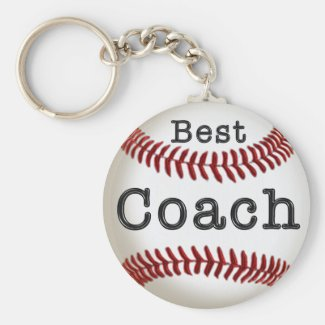 Cheap Best Coach Baseball Keychain