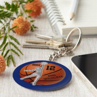 Cheap Customized Basketball Keychains Girls Team