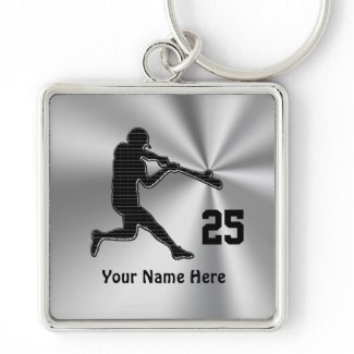 Cheap Ideas for Baseball Team Gifts NAME & NUMBER Key Chain