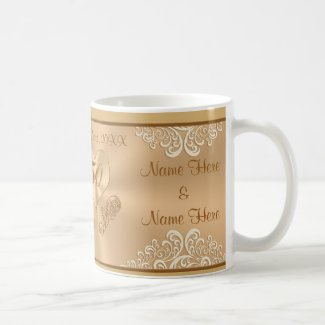 Cheap PERSONALIZED Fiftieth Anniversary Gifts Mug