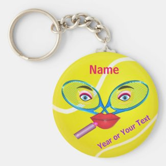 Cheap PERSONALIZED Tennis Keychains, Womens TEAM
