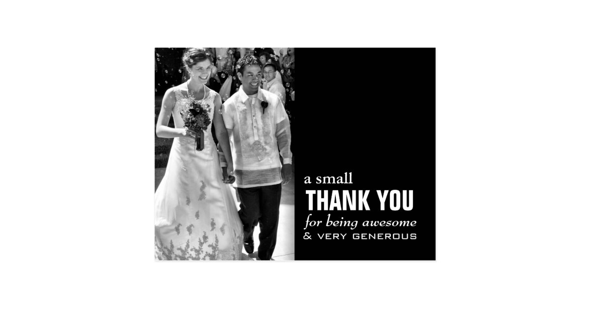 Cheap Wedding Thank You Card Photo Funny Zazzle