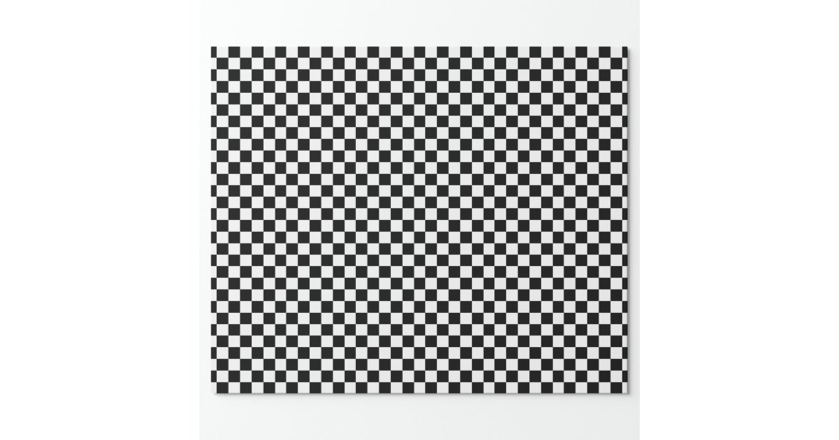 Checkered Black And White Wrapping Paper Zazzle