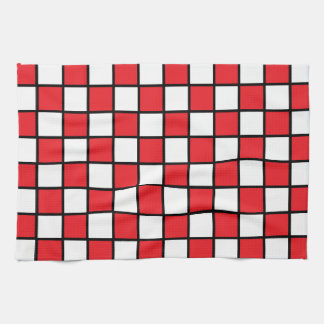 Checkered Black And White Kitchen Towels Zazzle