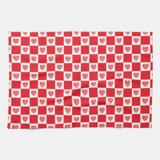 Red And White Checkered Kitchen Towels Zazzle