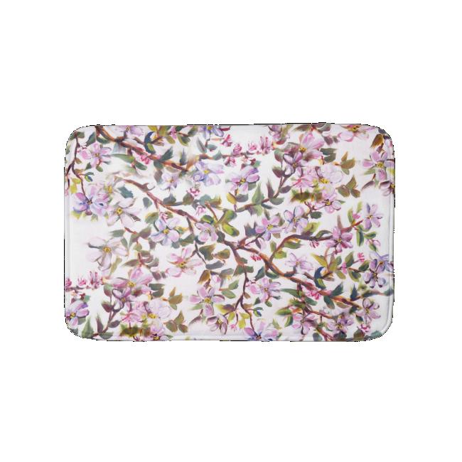 Cheerful Apple Blossom Flowers Acrylic Painting Bath Mats