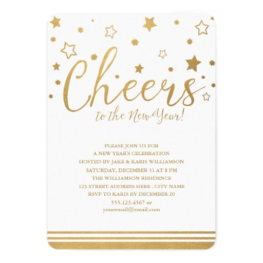 Cheers New Year's Eve Party Invitation | Zazzle  Cheers New Year...