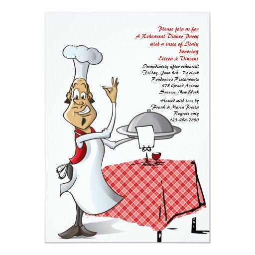 Chef's Choice Wedding Rehearsal Dinner Invitation | Zazzle