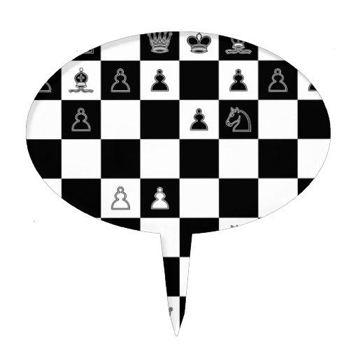 Chess Board Cake Topper