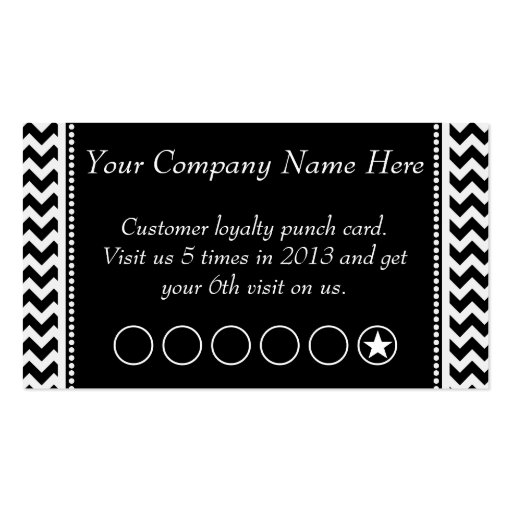 Punch Card Business Cards