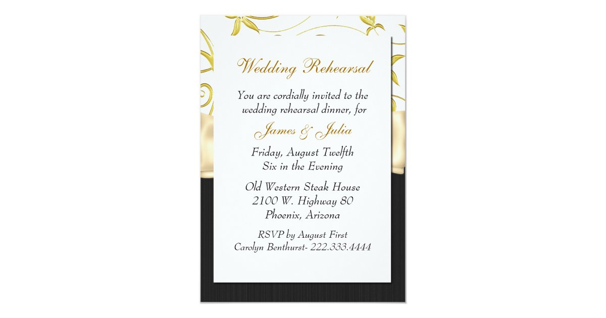 Who Is Invited To The Wedding Rehearsal Dinner: Chic Custom Wedding Rehearsal Dinner Invitation