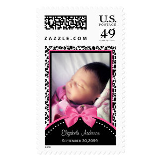 Baby Girl Birth Announcement Postage Stamps Zazzle