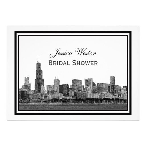 Personalized Skyline Wedding Invitations: Personalized Chicago Invitations