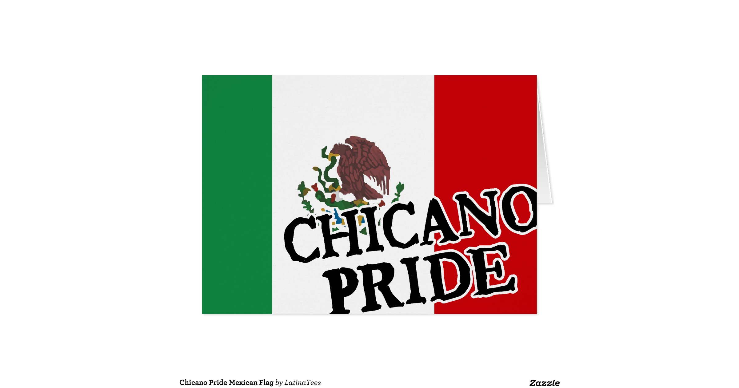 Chicano pride mexican flag greeting card zazzle - Chicano pride images ...