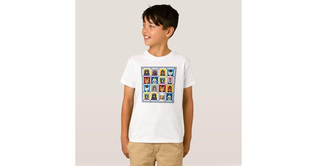 Child Bear Quilt Tee Shirt Zazzle