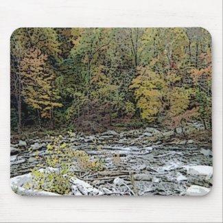 Chimney Rock, Creek, & Seasons Greetings mousepad