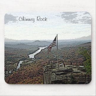 Chimney Rock Mountain & Creek mousepad