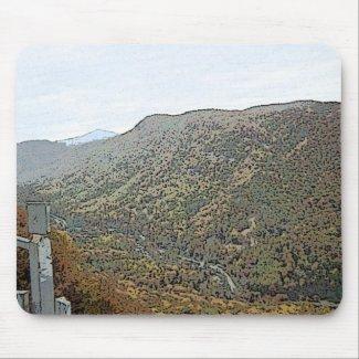Chimney Rock Mountain & Creek mousepad