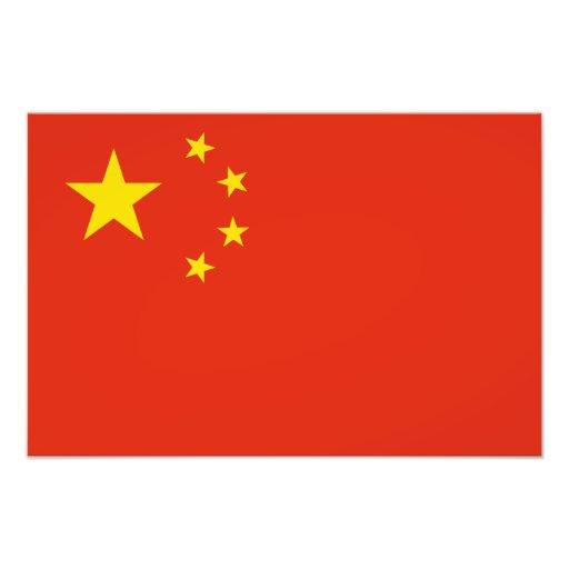 China - Chinese Flag Photographic Print   Zazzle