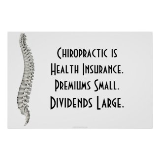 Chiropractic Poster: Chiropractic Health Insurance print