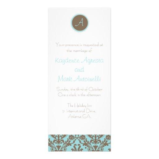 Baby Blue Wedding Invitations: Chocolate Brown/Baby Blue Wedding Invitation