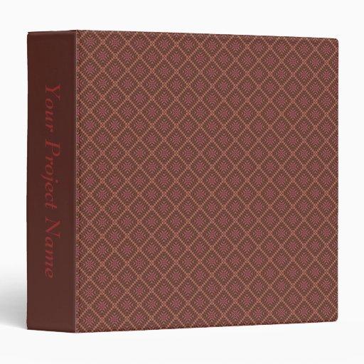 "Chocolate Diamonds Pattern 1 1/2"" Binder Template"