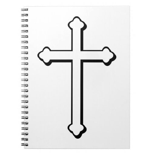 Christian Cross outline Notebook | Zazzle
