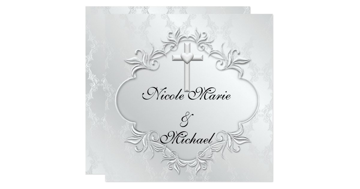 Christian Wording For Wedding Invitations: Christian Religious WEDDING Invitations T Design