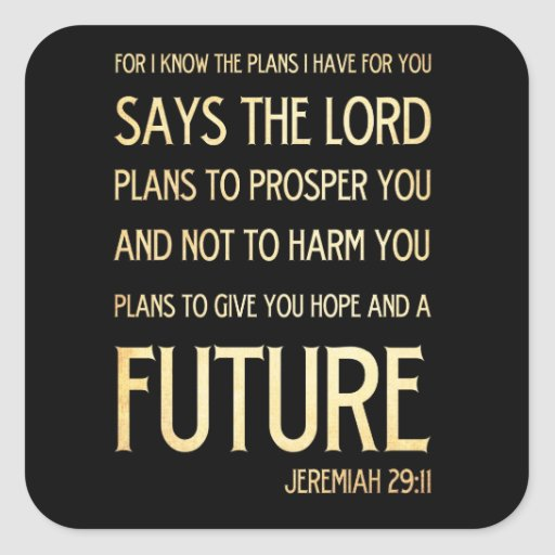 Christian scriptural bible verse jeremiah 29 11 square - Jer 29 11 kjv ...