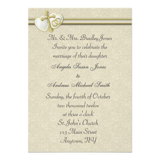"Christian Wording For Wedding Invitations: Christian Wedding Invitation 5"" X 7"" Invitation Card"