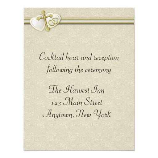 """Christian Wedding Reception Ideas: Christian Wedding Reception Card 4.25"""" X 5.5"""" Invitation"""