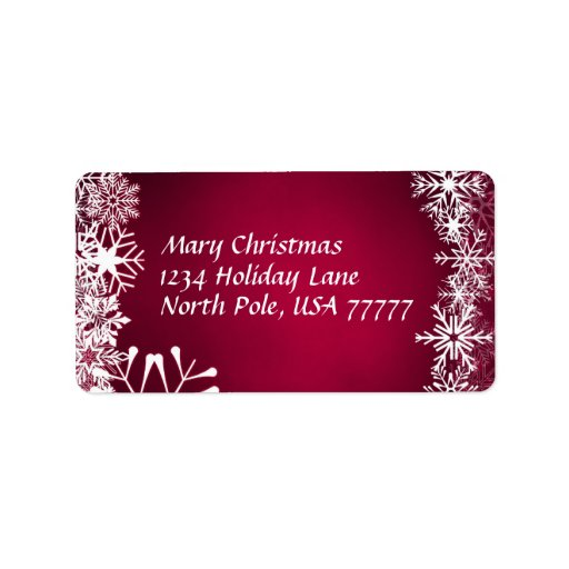 Christmas Address Avery Label Address Label