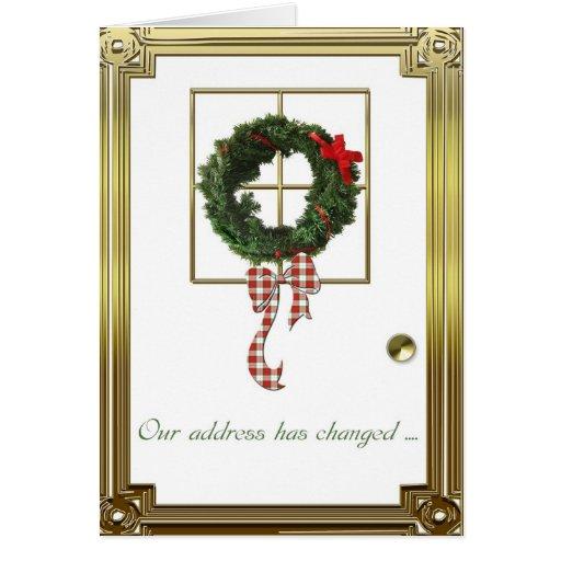 Christmas Address Change Greeting Card