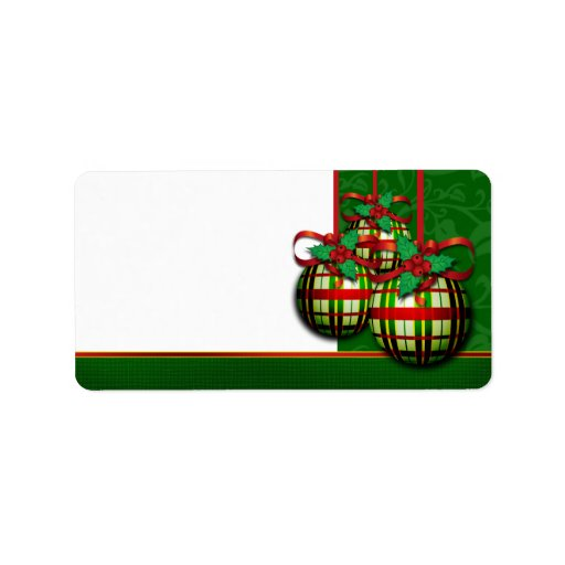 Christmas Address Labels For Holiday Card Mailing